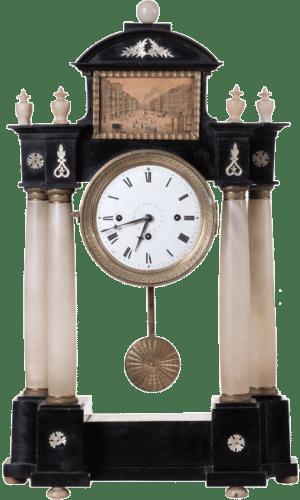 Klassizistische Biedermeier Portaluhr