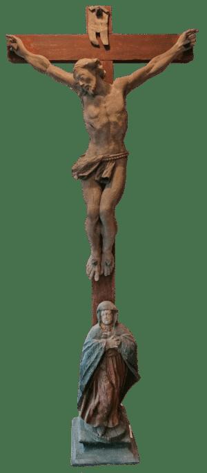 Kreuz mit Assistenzfigur