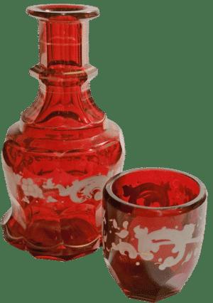 Biedermeier Trink-Flacon