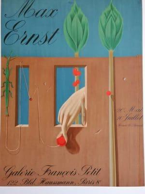"""Max ERNST, 2. 4. 1891 – 1. 4. 1976 , Surrealist """"Die Hand"""""""